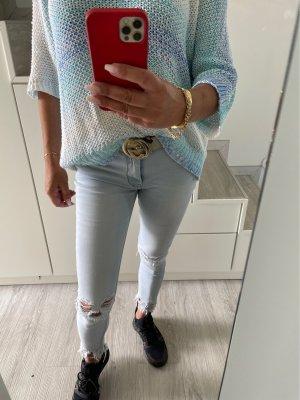 Pantalon 7/8 bleu fluo