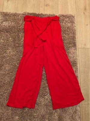 Takko Fashion Pleated Trousers brick red