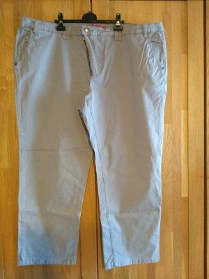 Sheego Pantalone chino marrone-grigio