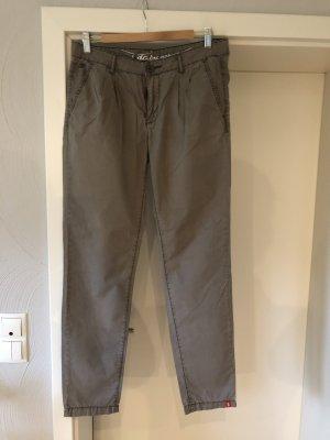 Edc Esprit Pantalon chinos gris brun-beige