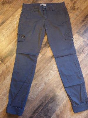 Esprit Spodnie khaki ciemnoniebieski