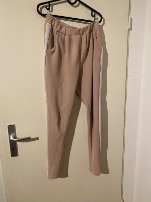 AWG Mode Center Spodnie ze stretchu biały-w kolorze różowego złota