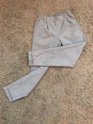 Bershka Pantalone jersey grigio chiaro-bianco