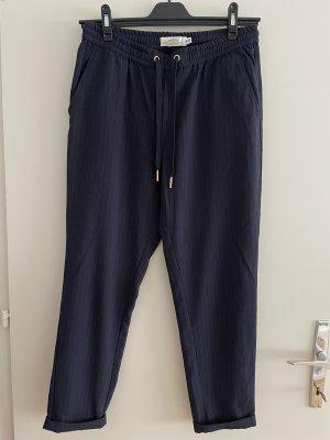 H&M Pantalon fuselé bleu foncé-gris clair