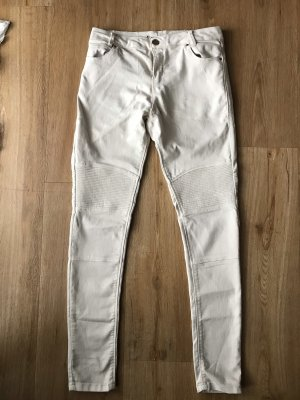 Bershka Jeans cigarette beige clair