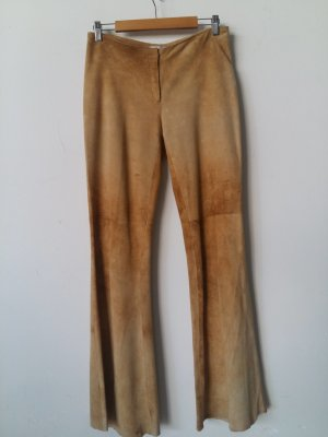 Laltramoda Leather Trousers beige leather