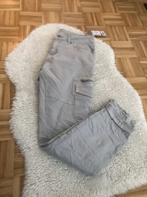 Made in Italy Pantalon boyfriend gris clair