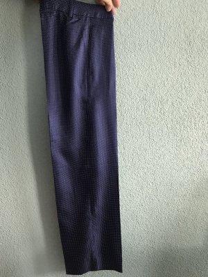 Marlene Trousers steel blue-white