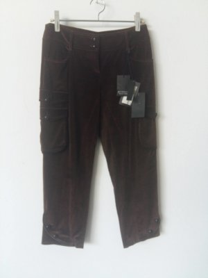 Alexander McQueen 3/4 Length Trousers cognac-coloured linen