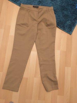 BODY FLIRT Spodnie typu boyfriend beżowy