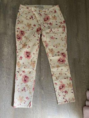 Anne L. Pantalone a 7/8 crema-color oro rosa