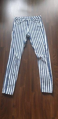 C&A Clockhouse Drainpipe Trousers multicolored cotton