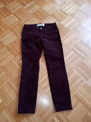 H&M Pantalone di velluto a coste bordeaux