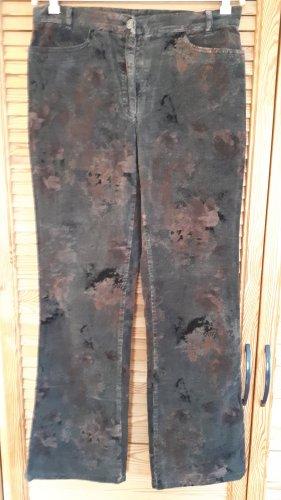 Brax Pantalon en velours côtelé gris foncé-rouge carmin