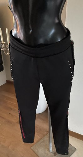 Cotton Candy Boyfriend Trousers black-red spandex