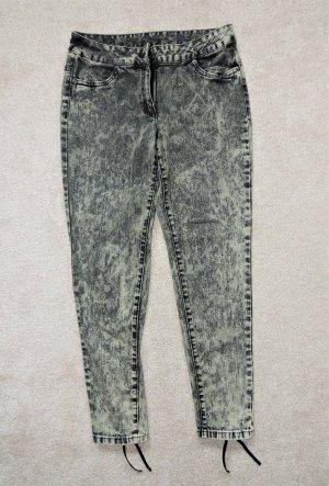 Aniston Stretch broek grijs-bruin-grijs Katoen