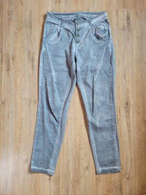 Made in Italy Pantalon cargo gris