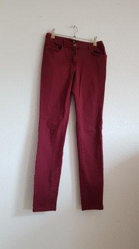 Hose H&M Bordeaux Rot 34