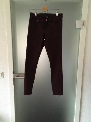 H&M Stretch Trousers bordeaux