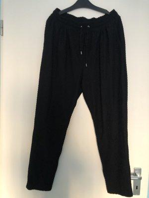 H&M Linen Pants black