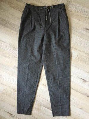Massimo Dutti Pleated Trousers black-dark grey cotton