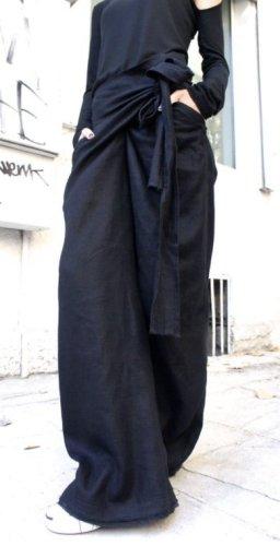 Etsy Linnen broek zwart