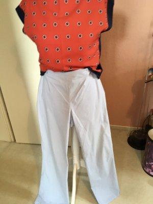 Unbekannte Marke Pantalon taille haute bleu azur