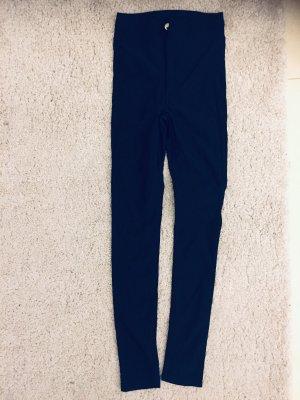 H&M Hoge taille broek donkerblauw