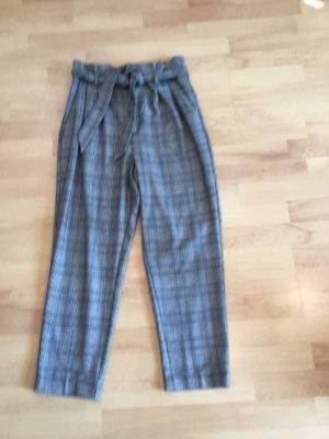 keine Marke Spodnie z wysokim stanem czarny-biały