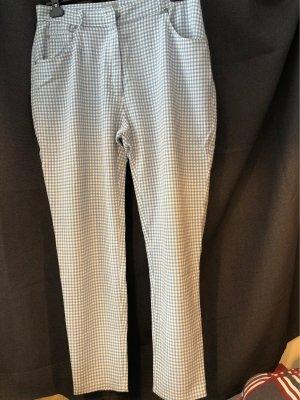 3 Suisses Pantalón de cintura alta blanco puro-azul celeste
