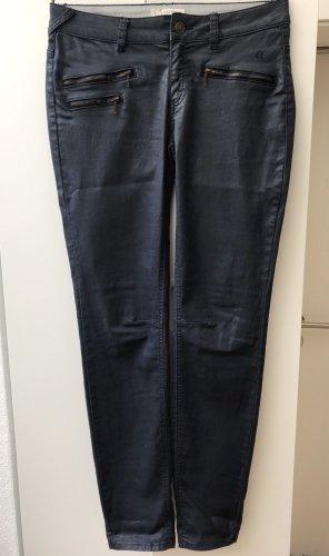 Comma Drainpipe Trousers dark blue