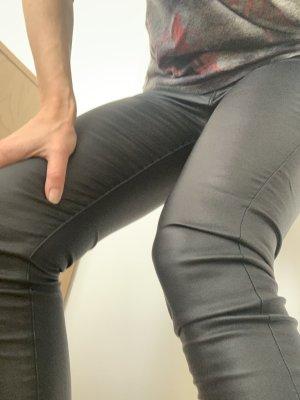 Vero Moda Skórzane spodnie czarny