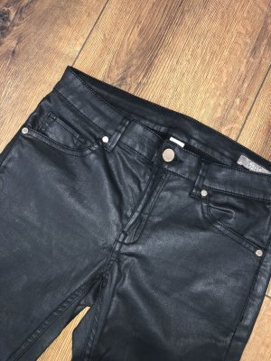 Mango Jeans Low-Rise Trousers black-gold-colored