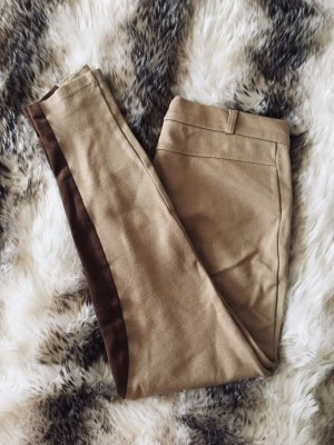 Zara Basic Pantalone da equitazione crema-marrone