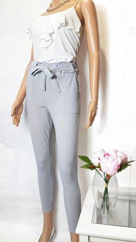 100% Fashion Spodnie z wysokim stanem jasnoszary
