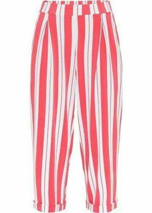 Rainbow Pantalon taille haute rouge framboise-blanc