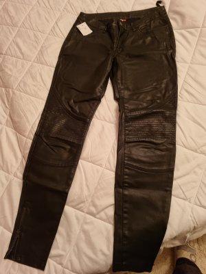 Skórzane spodnie czarny