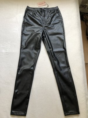 Missguided Pantalon en cuir noir
