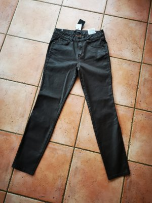 Massimo Dutti Leather Trousers brown