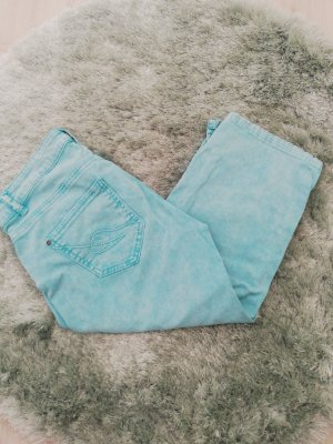 Kenny S. Jeans taille basse turquoise