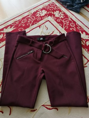 adl Pantalon en jersey bordeau