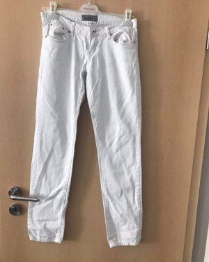 Pantalone a sigaretta bianco