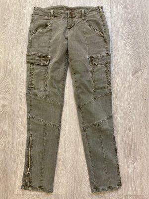 J brand Pantalón de camuflaje gris verdoso tejido mezclado