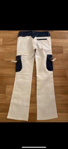 Hose Jeans  38 / 40 Bootcut Neuwertig weiß Stickmuster