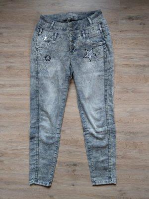 Hose Jeans beige Tredy
