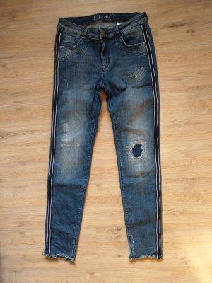 Hose Jeans blau Streifen Liberty