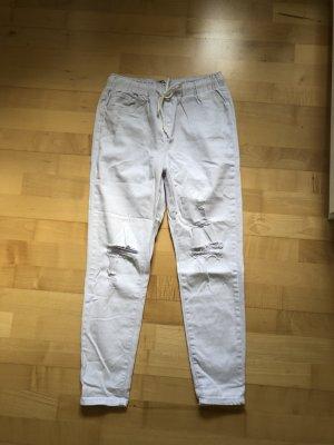 Blue Rags Pantalon strech blanc