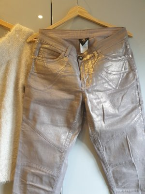 Best Connections Stretch jeans goud-licht beige