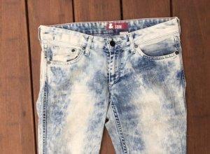 H&M Jeans cigarette blanc-bleu