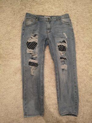 Hose/Jeans mit Netz